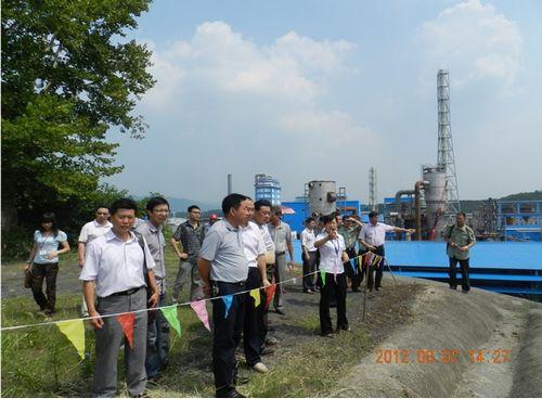 樟村坪镇组织机关干部到西化考察项目建设情况